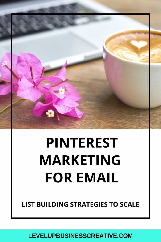 Pinterest marketing for email list building.  Learn top pinterest marketing strategies to help grow your email list and build your audience.  #pinterestmarketing #pinterestforbusiness #emaillistbuilding  Click here for your FREE Pinterest kick start.  Get your business on Pinterest today!   https://levelupbusinesscreative.com/pin-power-profile-landing-page/